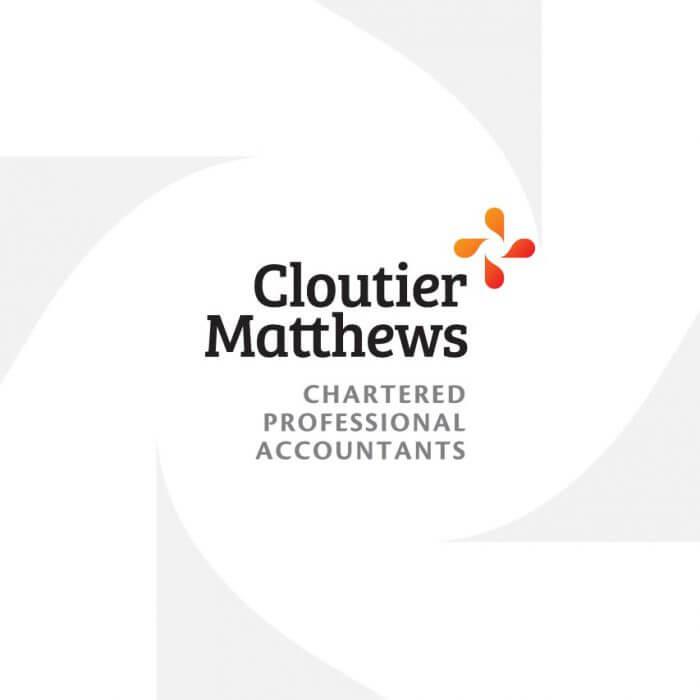 Cloutier Matthews Logo Design