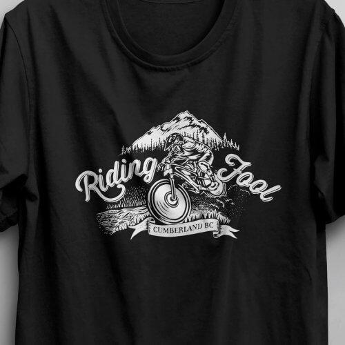 Riding Fool t-shirt design