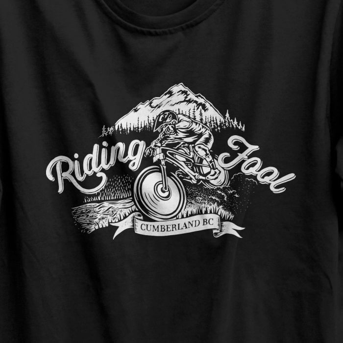 Riding Fool t-shirt design