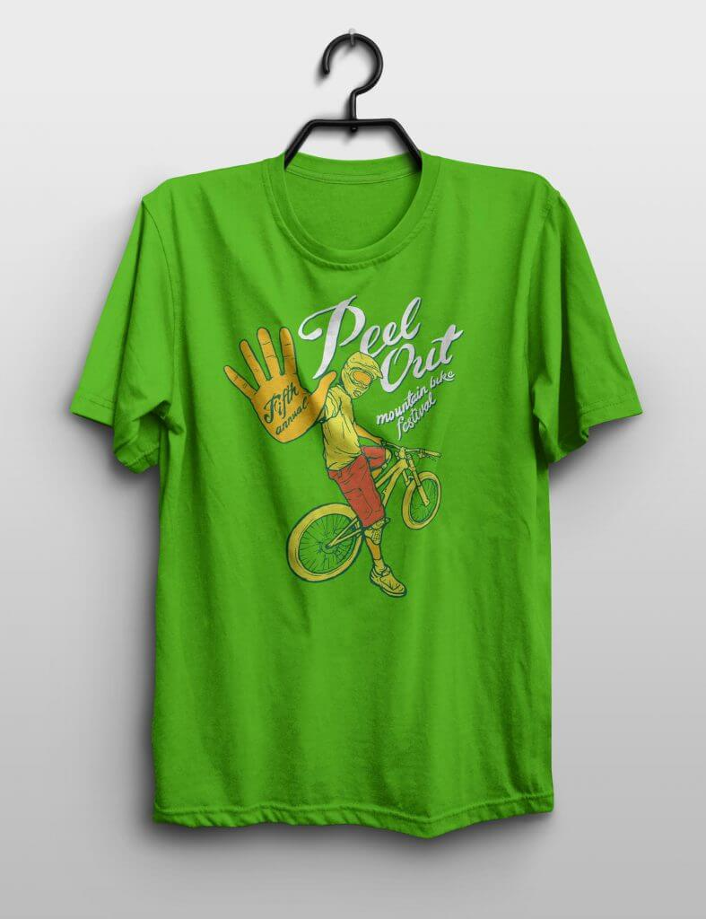 Peel Out Shirt for Ride The Cariboo