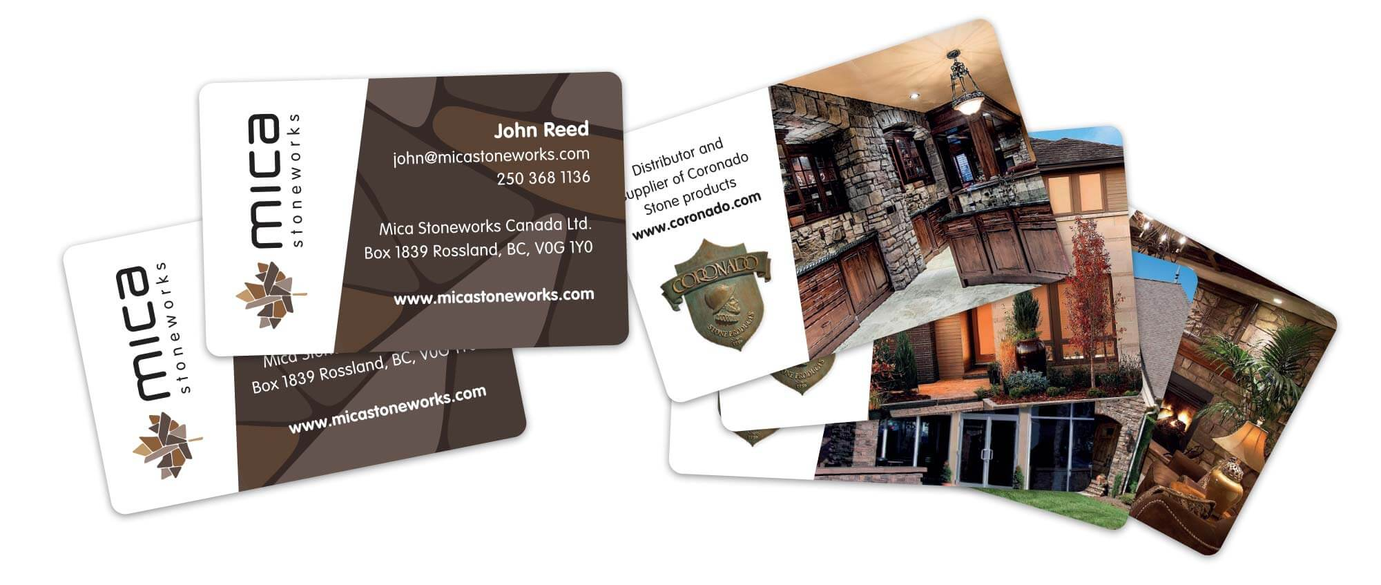 Mica Stoneworks Business Cards