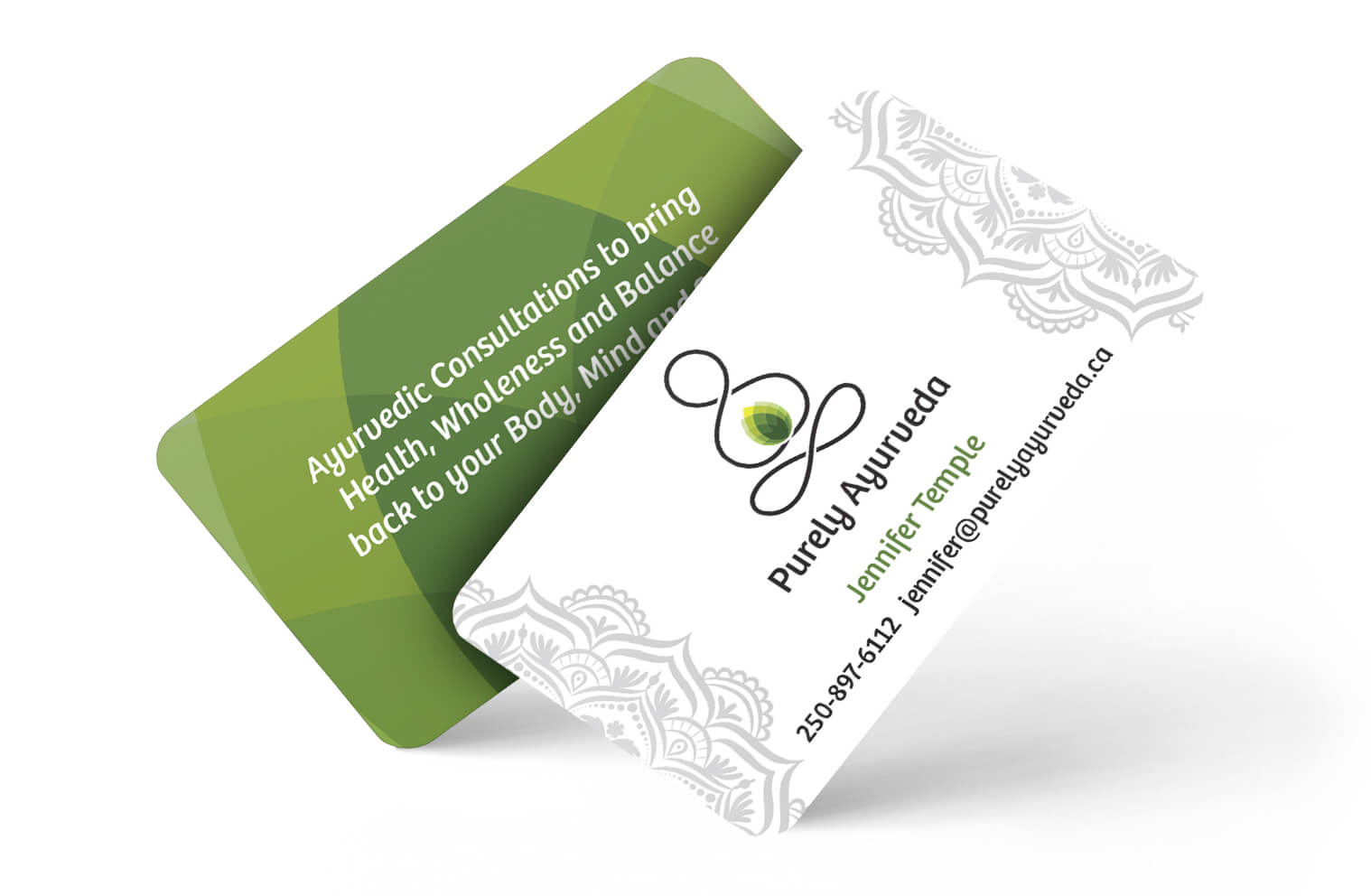 Business Card Design - Purely Ayurveda
